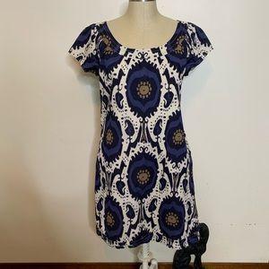 J Crew Black Label Cotton Tribal Print Dress Sz 8